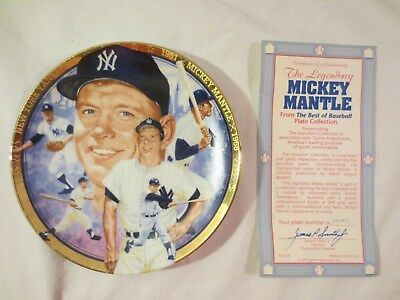 1993 The Legendary Mickey Mantle The Hamilton Collection