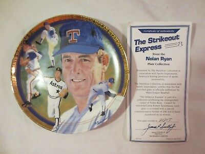 1993 Nolan Ryan The Strikeout Express The Hamilton Collection Collectors Plate