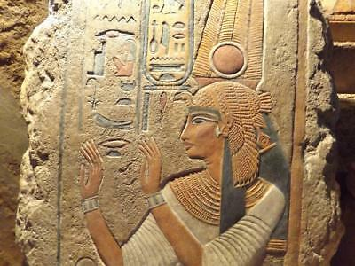 Egyptian Art - Relief sculpture of Queen Nefertari - Wife of Ramses the great