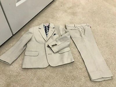 Boys Toddler Tan Nordstrom Suit (Linen/Rayon Blend) - Size 3 - Gently Worn