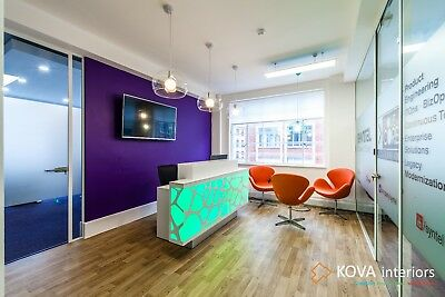 Glass Wall with installation by KOVA Partitions