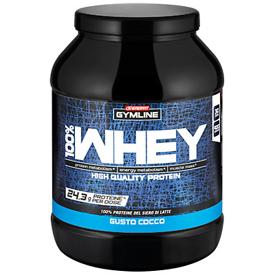Enervit Gymline Muscle 100% Whey Protein Concentrate 900 gr Cocco Proteine Latte