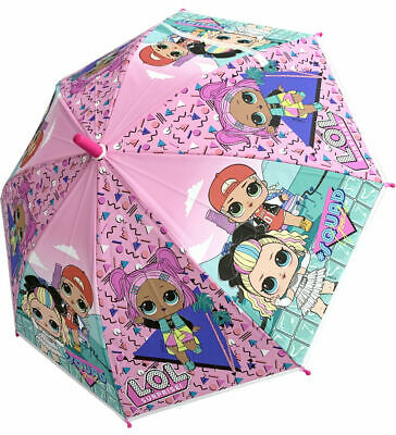 Lol Surprise Girls Pink Bubble Dome Umbrella Rain Brolly Back To School Travel