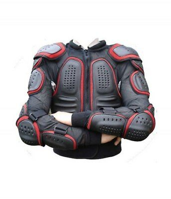 Body Armour Motorcycle Motorbike Motocross CE Protector Guard Red Jacket