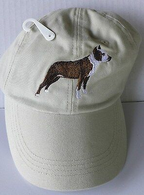 Pit Bull Terrier Embroidered Baseball Cap, Adjustable, 100% Cotton, GR8DOGS, NWT