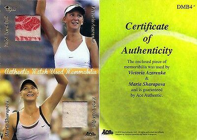 Ace Authentic Victoria AZARENKA Maria SHARAPOVA Match-used Material card DMB4