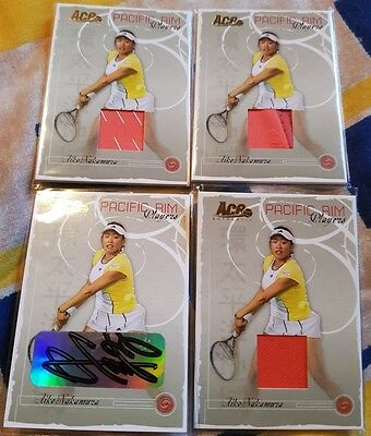 4-cards Aiko NAKAMURA AUTO JERSEY Ace Authentic PACIFIC RIM card PR-5