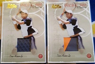 2-cards Yen-Hsun LU Ace Authentic PACIFIC RIM Match-worn Jersey card PR-2 Tennis