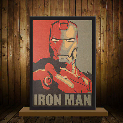 NEW IRONMAN Poster Adornment Picture Design Drawings Kraft Paper Wall Sticker