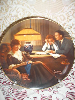 Father's Help Ltd Ed. Knowles Rockwell Light Campaign series Plate #3