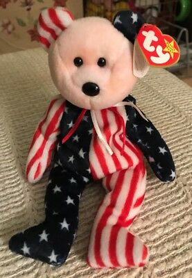 Ty Beanie Baby Original 1999 Spangle Best With Pink Face MWMT