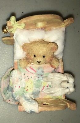 Cherished Teddies Enesco Baby Cradled with Love Box and Papers 911356 EUC