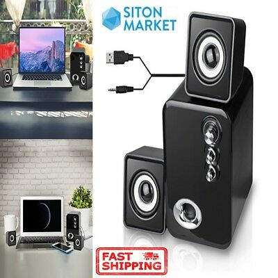 Computer Speakers 2.1 USB Powered Multimedia PC Laptop Desktop System Subwoofer