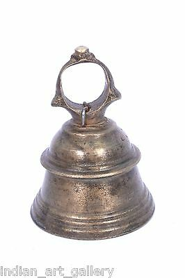 Rare Vintage Handicraft High Age Brass Ritual Temple Bell, Good Sound. i9-31