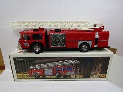 1986 Hess Red Fire Truck with ladder. In Box. (398