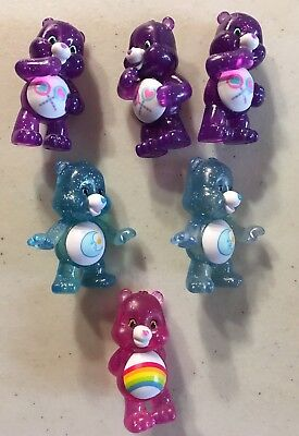 Care Bears Lot Of 6 Glitter Fun Figures Share Bear Cheer Bear Bedtime Bear