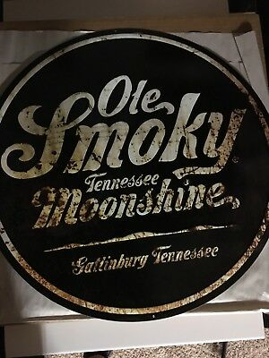 Ole Smoky Moonshine Metal Tin Tackler Signage 20x20in - Brand New In Orig. Box