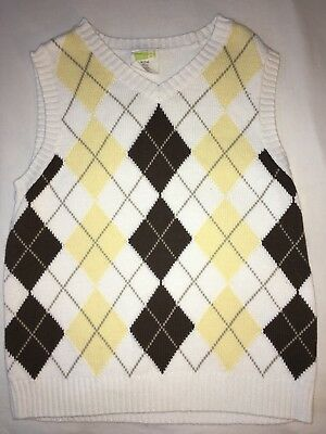 Boys Size 7/8 Crazy 8  Sweater Vest Dress Up Church Wedding Pictures Easter