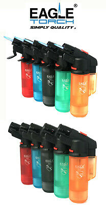 Eagle Jet Torch Gun Lighter (V.2) Adjustable Flame Windproof Butane Refillable