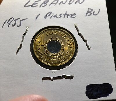 Lebanon Piastre 1955 Choice BU Coin Great Luster -  Leb1