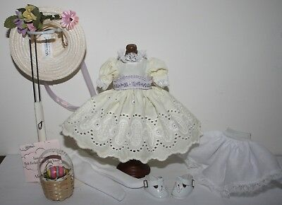 """8"""" Madame Alexander MA Eyelet outfit tagged EASTER MORNING with hat basket egg"""