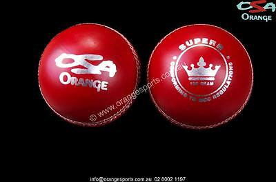 24 x SUPERB RED 2pc GOOD Cricket Ball 156g by OSA  + AU STOCK (not kookaburra)