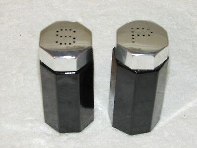 Arcoroc Octime Black Salt And Pepper Shakers (Pair)