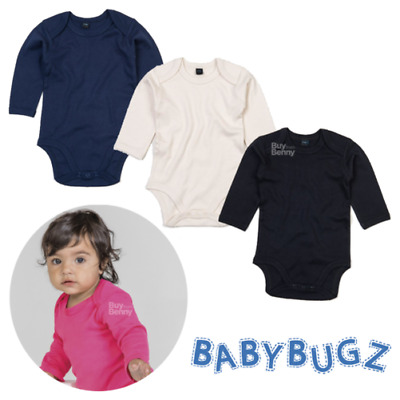 Baby Bodysuit Long Sleeve Sleeping Comfort 100% Soft Organic Cotton Eco Boy Girl