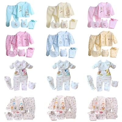 5pcs/set Newborn Clothing Baby Boys/Girls Cotton Clothes Underwear Warm Outfits