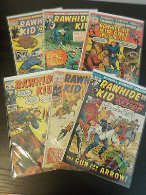 RAWHIDE KID #86-89-98-112-120+ MIGHT MARVEL WESTERN #17  7 issue lot western.