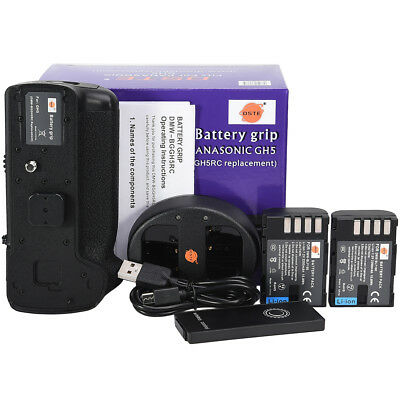 DSTE DMW-BGGH5GK Remote Battery Grip for Panasonic GH5 + 2xDMW-BLF19 + Charger