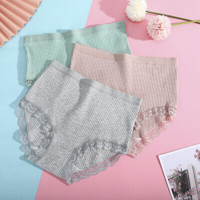 Women Ladies Lace Briefs Panties Knickers Underwear Soft High Waist Underpants