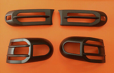 2007-16  FJ Cruiser 1set Black ABS For Head & Rear Light Guard Protector Covers