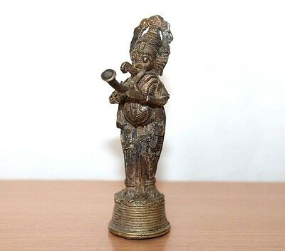 Antique Style Beautiful Fine Cast Brass LORD GANESHA Shape Figurine#474