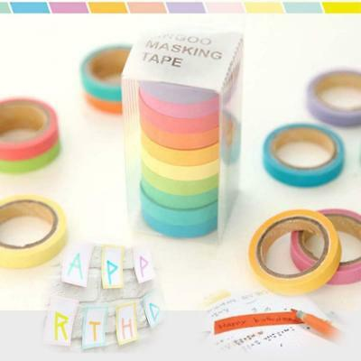 10x 0.7cm Washi Paper Sticky Adhesive Sticker Tape Decorative JкY Crafts 2016 Jк