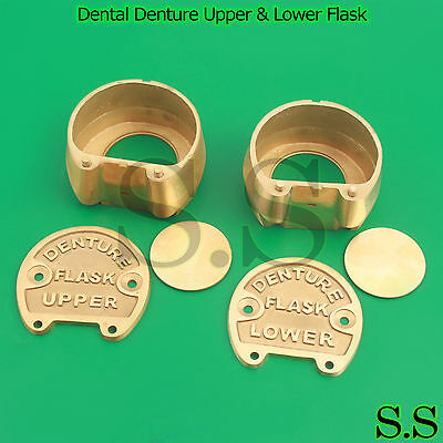 ORIGINAL BRASS Dental Denture Upper & Lower Flask New Lab Professional-A+QUALITY