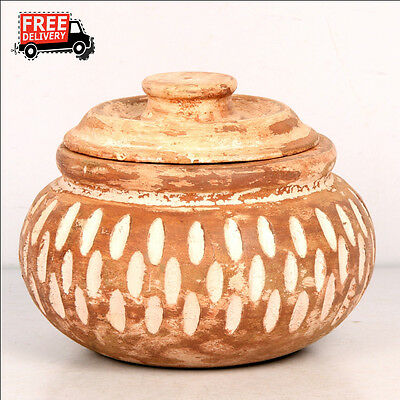 New Hand Made Wooden Hand Painted Flat Tray & Bowl Oil Pot Serving Purpose 7900
