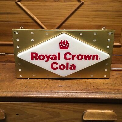 Royal Crown Cola Lighted Sign, 28 inch x 12 inch, Nice, NR