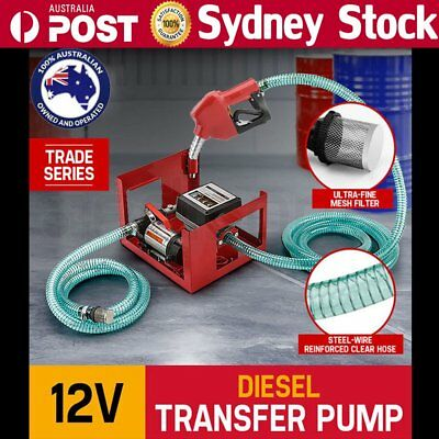 12V Oil Transfer Pump Diesel Fuel Electric Bio-Diesel Commercial Auto 40L/Min FC