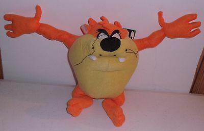 "10"" Looney Tunes Tazmanian Devil Orange Plush Lovie by Sugar Loaf Retired"
