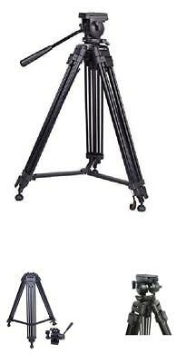Professional Video Tripod ST-650, 65mm Bowl, 62 inch height, with 2 Quick