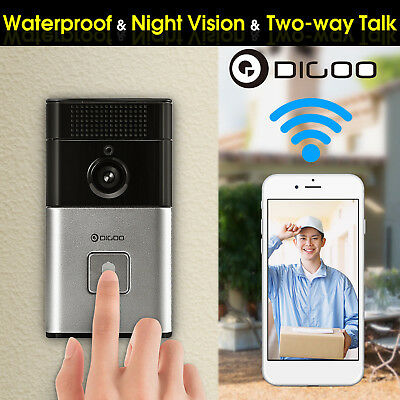 Digoo Wireless Bluetooth WIFI Smart Home HD Video DoorBell Camera Intercom Phone