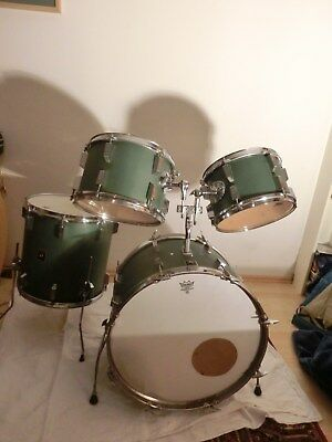 SONOR CHAMPION SET 22 16 13 12 vintage 70's custom olive green made in germany