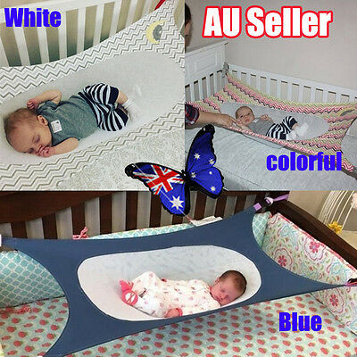 Baby Folding Oxford Cloth Cot Bed Travel Playpen Hammock Holder Crib Portable BO