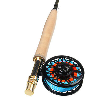 Fly Fishing Combo 3/4 5/6 7/8WT CNC Machined Fly Reel Carbon Fiber Fly Rod Line