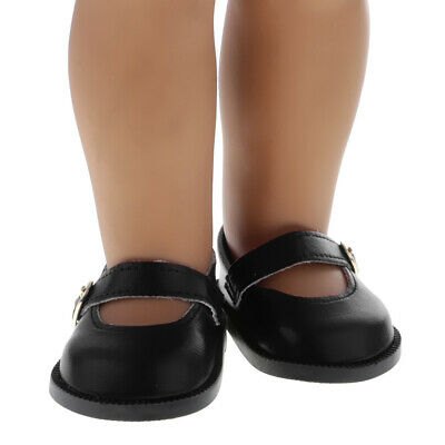 Doll Pair of Ankle Belt PU Leather Shoes for 18'' American Girl My Life OG Dolls