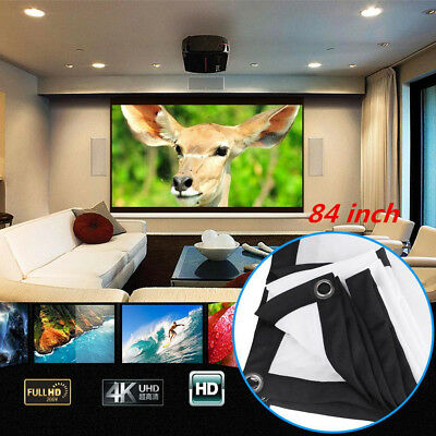 Portable Projection Screen Projector Curtain Outdoor Theater Home Cinema 16:9