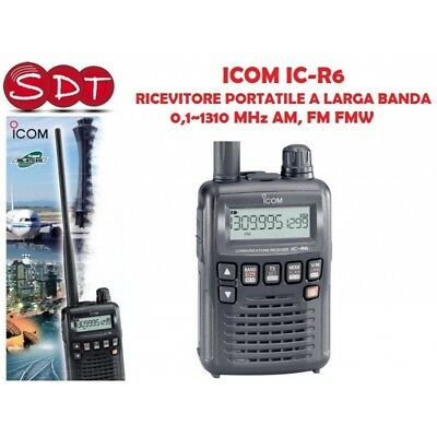 ICOM IC-R6 RECEIVER PORTABLE WITH A LARGE BAND 0,1~1310 MHz AM, FM FMW