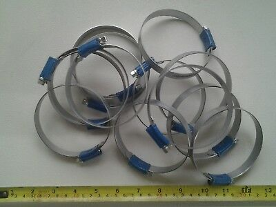 joblot of 13 ABA swedish quality stainless steel jubilee /hose clips 68mm- 85mm