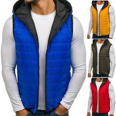 BOLF Mens Vests Gilet Waistcoat Bodywarmer Hooded Jacket Lined Sport 4D4 Classic